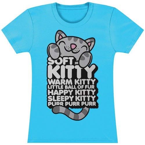 The Big Bang Theory Soft Kitty Hugging Words Womens T-shirt L