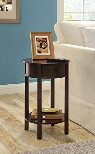 Indoor Multi-function Accent table Study Computer Desk Bedroom Living Room Modern Style End Table Sofa Side Table Coffee Table Round Accent Table by DASII