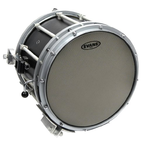 Evans Hybrid Grey Marching Snare Drum Head, 14 Inch (Hybrid Snare)