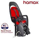 Hamax Caress Rear Child Bike Seat (Grey/Red, Rack Mount)