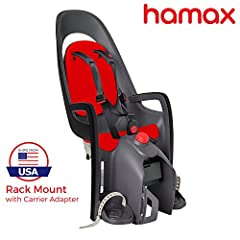 Explore, experience, together! Available for the first time in the U.S, the Hamax Caress Child Bike Seat exemplifies Scandinavian design and safety standards to protect the most precious cargo you will ever have. A rear-position seat, the Car...