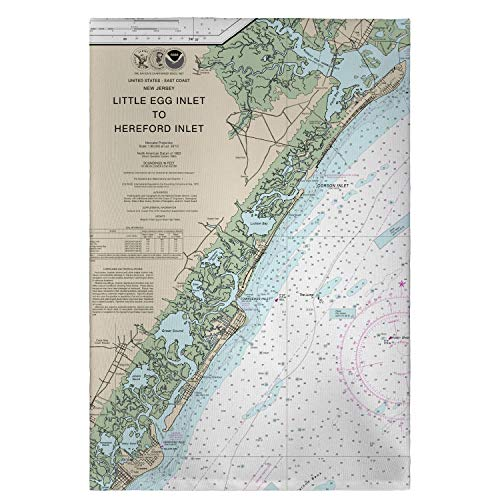 - Betsy Drake Little Egg Inlet Hereford Inlet Avalon, NJ Nautical Map Guest Towel