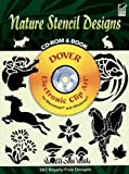 Nature Stencil Designs (Dover Electronic Clip Art) (CD-ROM and Book)