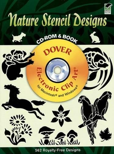 Nature Stencil Designs (Dover Electronic Clip Art) (CD-ROM and Book) by Dover Publications (Image #2)