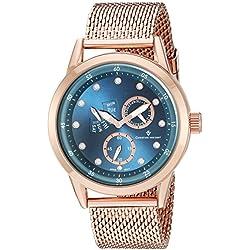 Christian Van Sant Men's 'Rio' Quartz Stainless Steel Automatic Watch, Color:Rose Gold-Toned (Model: CV8715)
