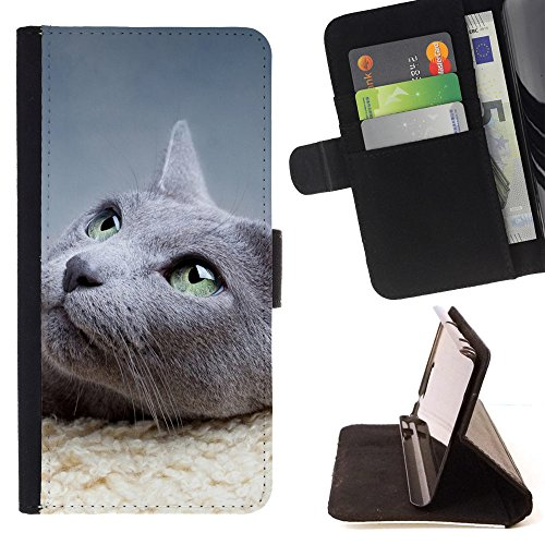 ICE CASE - FOR Apple Iphone 7 - Animals Cat - Painting Art Smile Face Style Design PU Leather Flip Stand Case Cover