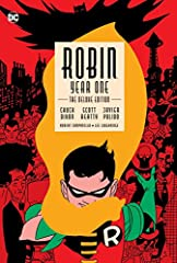 This deluxe edition collects the full ROBIN: YEAR ONE miniseries by Chuck Dixon (NIGHTWING), Scott Beatty (BATGIRL: YEAR ONE) and Javier Pulido (SHE-HULK) in hardcover for the first time, along with behind-the-scenes sketches and designs.Afte...