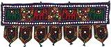 Cheap Indian Door Decoration Toran Window Valance Handmade (Black, 34 x 13 inches)