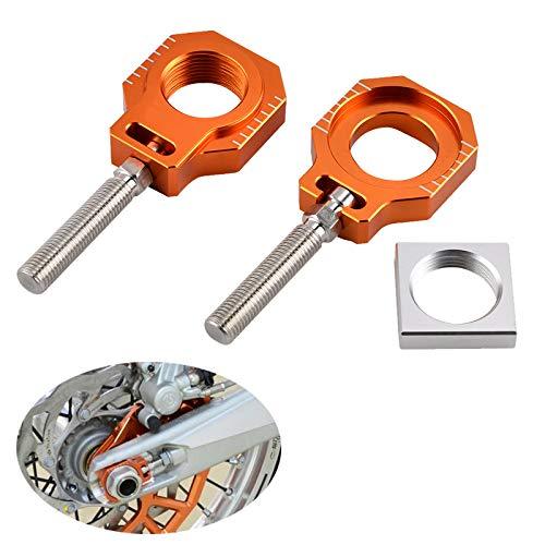 Kavas - CNC Billet Rear Axle Blocks Chain Adjuster For KTM 85 SX 2003-2014 125 250 300 350 400 450 525 530 EXC EXC-F XC-W XCFW 2000-