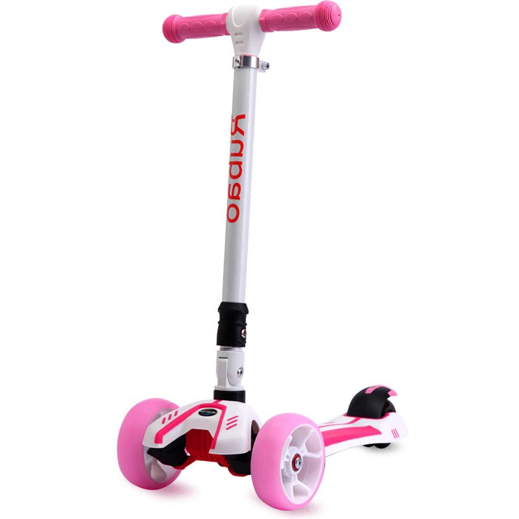 2019春大特価セール! 初心者のための携帯用折り畳み式の通勤スクーター、子供のためのスクーターボード2-12、3高さ調節可能なキックスクーターwithFlashing Pink PUホイール Red) (色 : Red) B07NPN15PW Pink PUホイール Pink, 山形大石田 食彩処いげたや:e14e0ae8 --- a0267596.xsph.ru