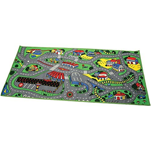 Nylon Center - CP Toys 3 ft. x 6 ft. Town Center Nylon Rug
