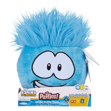 Club Penguin Jumbo Puffle Plush Blue