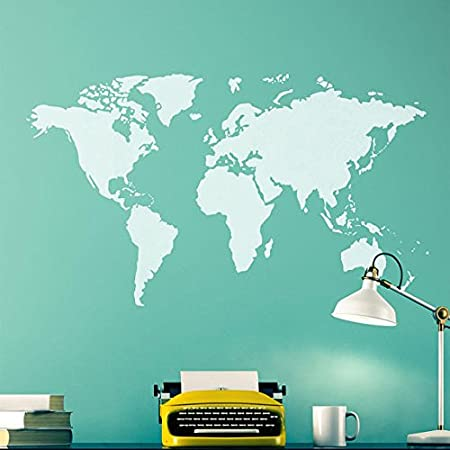 Craftstar world map stencil diy feature wall art template amazon craftstar world map stencil diy feature wall art template gumiabroncs