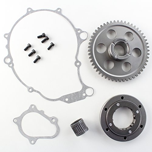 Starter Clutch One-Way Bearing Gear Kit For 2001-2003 Yamaha Raptor 660R Replaces 5LP-15515-00-00 5LP-15590-00-00