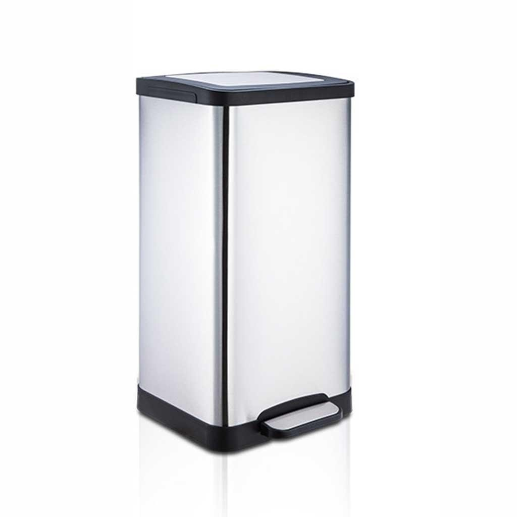 X& Y 15L Stainless Steel Square Pedal Trash Can Home Bathroom Living Room Trash Can 25 * 49cm XUYAN