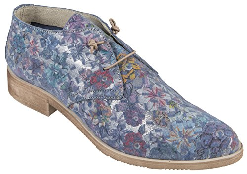 Blue Buratti Mujer Zapatillas Para Gebl Piel 4235ES Multicolor de Blue qSxpw6v