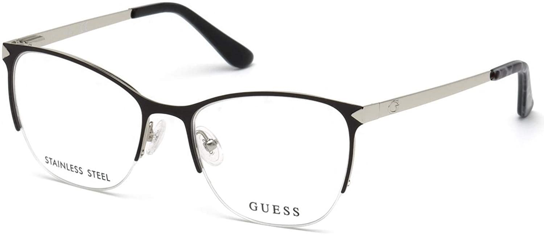 Eyeglasses Guess GU 2666 001 shiny black at Amazon Men s Clothing store  c9a932d825