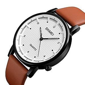 Men Quartz Watch Minimalist Waterproof Sport Watches Leather Strap Luxury Brand Fashion Wristwatches
