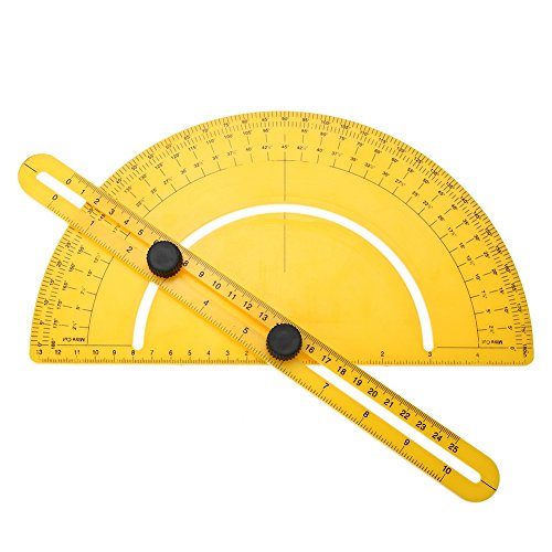 Labu Store Professional Protractor Multi Angle Ruler Angular Measuring Tool 180 Degrees Angle Ruler Protractors Measure Toos Instrument by Labu Store