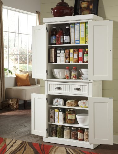 home, kitchen, furniture, kitchen, dining room furniture,  pantries 5 image Nantucket White Pantry by Home Styles in USA