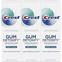 Crest Gum Detoxify Deep Clean Toothpaste Triple Pack 4.1 Ounce