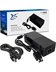 Xbox One Power Supply- Xbox One Power Brick with Power Cord Replacement Enhanced Cool Version AC Adapter Charger for Microsoft Xbox One Console 100V-240V