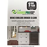 ServicePro 1-Year Service Plan for Wine Coolers Between $500 - $1,499.99 (WC1U1500)