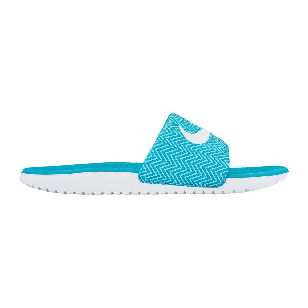 NIKE Women's Kawa Slide Sandal B01F47NY9M 6 B(M) US|Chlorine Blue/Clacier Blue