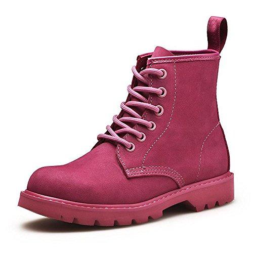 HSXZ Unisex Schuhe Leder Nappa Winter fallen Cowboy Western Stiefel Mode Stiefel Kampfstiefel Stiefel Absatz Round toe Stiefelies Stiefeletten für