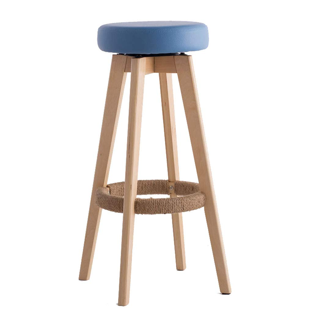 B Solid Wood High Stools, Bar Stool with Backrest Modern Simplicity redating Stool Wooden Frame, for Kitchen, Restaurant, Cafe, Bar, Living Room (Multi-color Optional) (color   D)