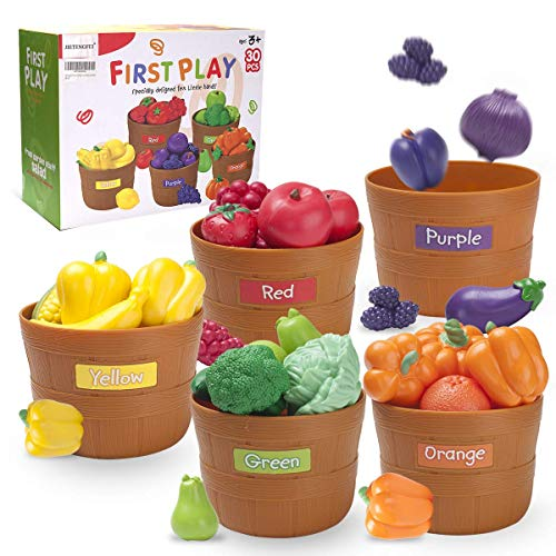 JIETENGFEI Fruit Veg Play Food (Fruit Veg 5 Set)