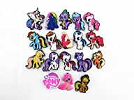 18pcs Cute My Little Pony Party Gifts Shoe Charms for Croc & Wristband Bracelet