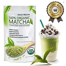 Starter Matcha (16oz) - Premium Certified Organic, Pure Matcha Green Tea Powder, Incredible Flavor, Delicate Aroma, Natural Energy Booster and Fat Burner