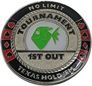 1st Out Funny Poker Trophy Poker Weight