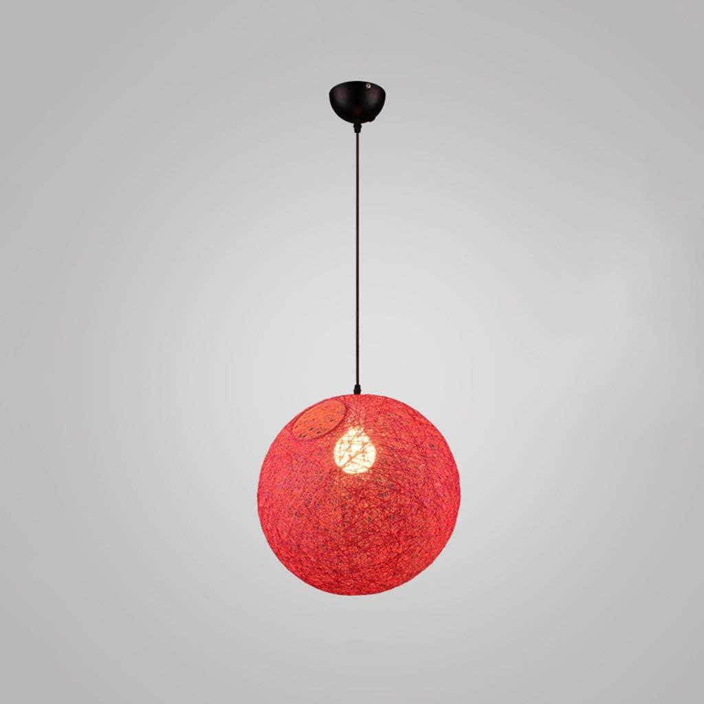 rouge 20cm BAIF Lustre 1 élégant Minimaliste Chambre Lampes Suspendues Escalier Créatif rougein Chanvre Magasin De VêteHommests De ChangeHommest LED Restaurant Restaurant Suspendu (Couleur  Rouge, Taille  20cm)