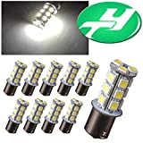 YINTATECH 10 X 1156 BA15S 18-SMD 1141 1003 Brake Turn Signal Light White LED Light Bulbs Tail Backup(DC 12V)