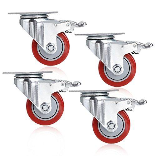 3'' Coocheer PVC Heavy Duty Swivel Caster Wheels