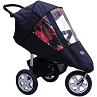 Tike Tech Single City X3 All Season Stroller Cover, Black Clear