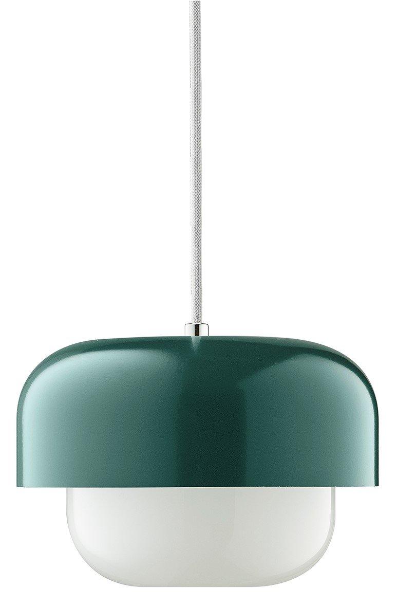 LED Pendel-Leuchte dunkel-grün Hängeleuchte Esstisch, Pendel-Lampe für Wohnzimmer Flur Restaurant Küche Hotel Retro Durchmesser  23cm Höhe  15cm