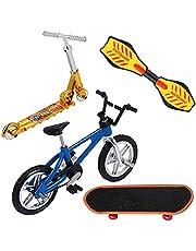 Mini Finger Toys Set Finger Skateboards Fietsen Fingerboards Mini Sports Birthday Geschenken 4 Stuks
