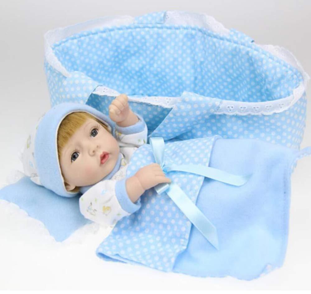 Hongge Reborn Baby Doll,Vinilo de Silicona regenerado del cumpleaños Regalo Juguetes los niños de bebé muñeca Realista bebé muñeca Realista Princesa niñas 28cm