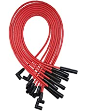 A-Team Performance Silicone 8.0 mm Spark Plug Wires Set Ignition Accessories Automotive Wire Kit Compatible with AMC Jeep V8 290 304 343 360 390 401, Red