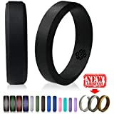 Silicone Wedding Rings by Knot Theory ★Canadian, Award-winning Designer ★6mm Band for Superior Comfort, Style, Safety (Black, Gray, Blue, Red, Silver, White)