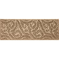 Bungalow Flooring Waterhog Indoor/Outdoor Runner Rug, 22' x 60', Skid Resistant, Easy to Clean, Catches Water and Debris, Boxwood Collection, Khaki/Camel