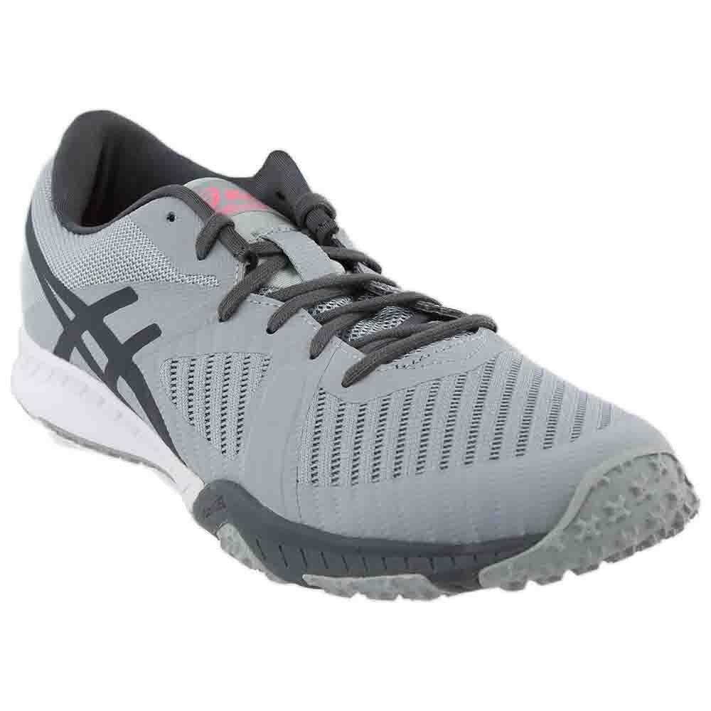 ASICS Womens Weldon x Fabric Low Top Lace up Running Sneaker B01N8Q0SKT 9 B(M) US|Mid Grey/Carbon/White