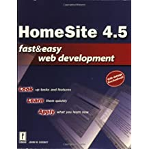 Homesite 4.5 Fast & Easy Web Development W/CD with CDROM