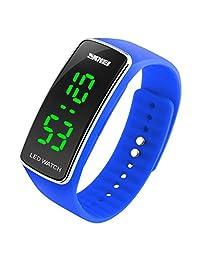 Changeshopping Men Womens Fashion Silicone LED Sport Bracelet Touch Digital Wrist Watch