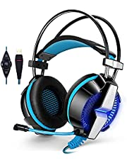 KOTION EACH G7000 7.1 USB Surround Vibration -HighEnd- Professional Gaming Headset PC Headphone Computer Headband with Mic LED for Gamer