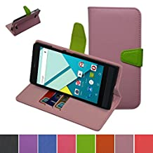 Blu Studio 6.0 HD Case,Mama Mouth [Stand View] Folio Flip Premium PU Leather [Wallet Case] With Built-in Media Stand ID Credit Card / Cash Slots and Inner Pocket Cover Case For Blu Studio 6.0 HD D650a, Pink