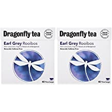 (2 Pack) - Dragonfly Tea - Earl Grey Rooibos Tea | 40 Bag | 2 PACK BUNDLE